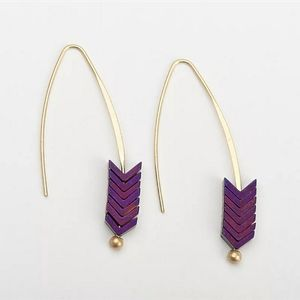 Beautiful unique earrings in purple
